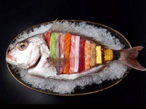 """Tác phẩm sashimi sống động có chút """"rợn người"""" thế này bạn có dám thử không?"""